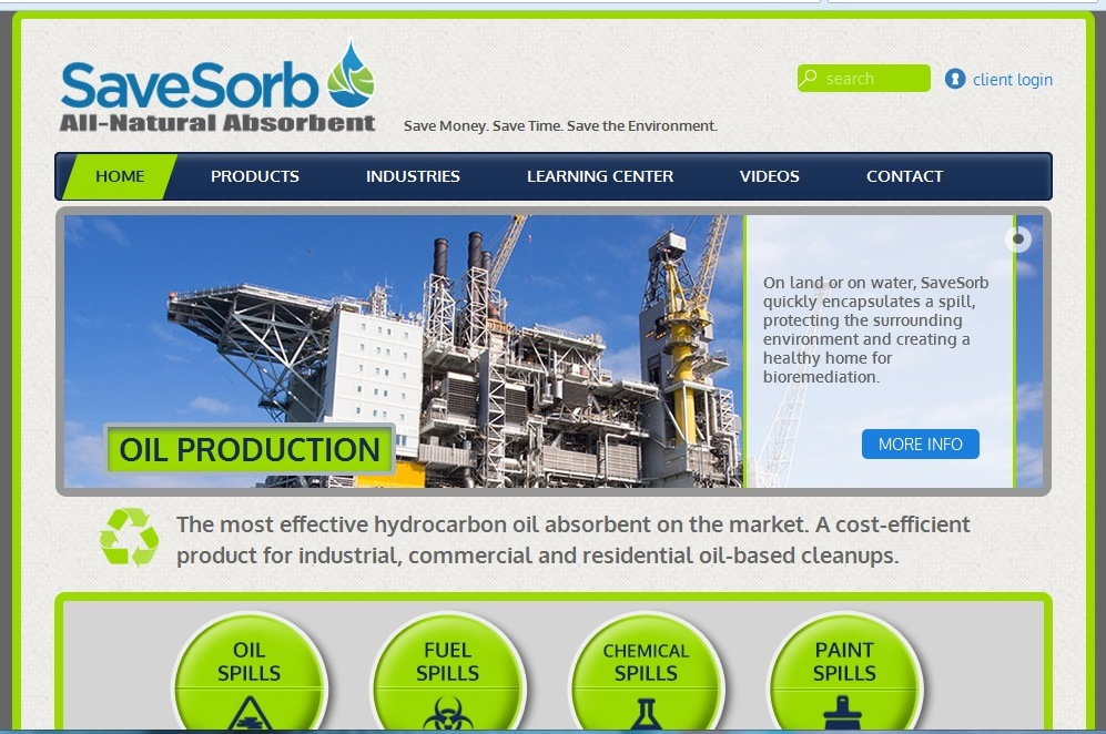 SaveSorb Home Page Oil Production